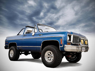 Blue Chevrolet Prints
