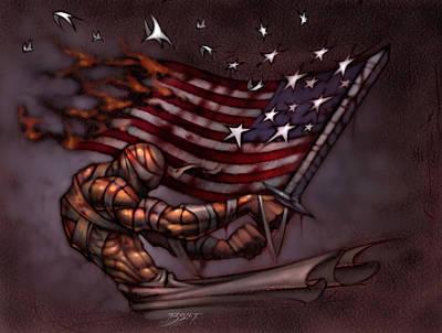 Fallen Soldier Digital Art Prints