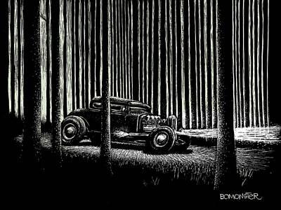 Old Car Drawings Original Artwork