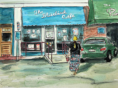 The Bluebird Cafe Paintings