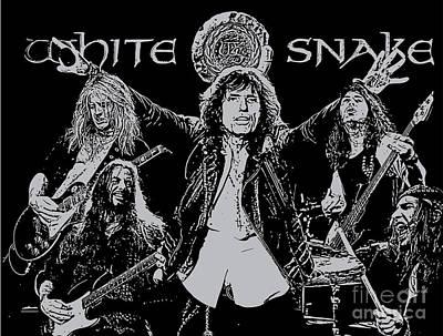 Whitesnake Digital Art