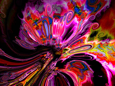 Colorful Abstract Algorithmic Contemporary Digital Art