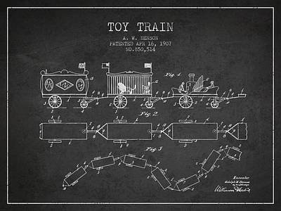 Train blueprint art fine art america train blueprint art prints malvernweather Choice Image