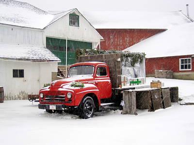 Red Barn In Winter Photographs Original Artwork