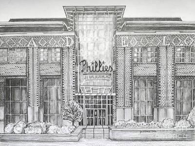 Pennsylvania Baseball Parks Drawings Original Artwork