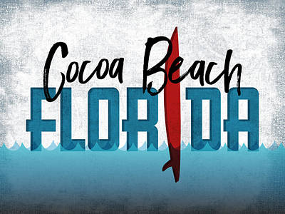 Designs Similar to Cocoa Beach Red Surfboard