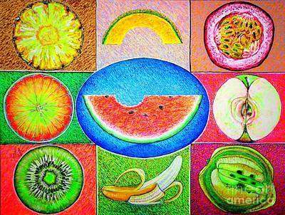 Passion Fruit Drawings Original Artwork