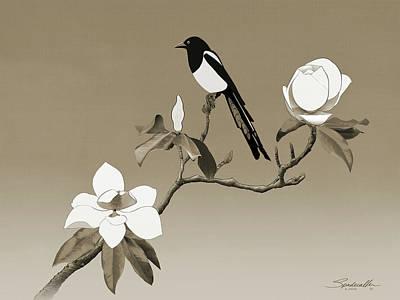Designs Similar to Magpie And White Magnolia