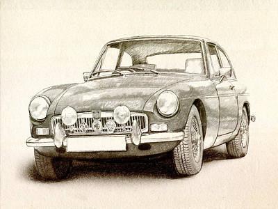 Classic Car Drawings Prints Fine Art America