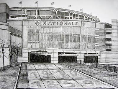 Washington Dc Baseball Drawings