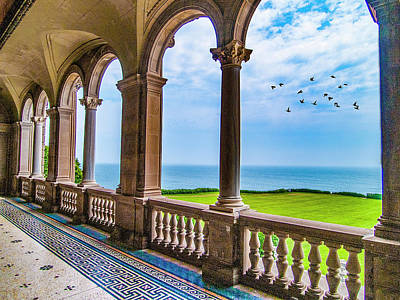 Mansion By The Ocean Prints