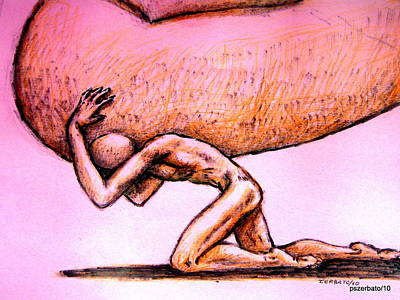 Spiritual Oppression. Symbolism Mixed Media Prints