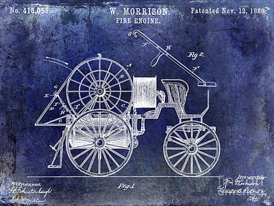 Designs Similar to 1889 Fire Engine Patent Blue