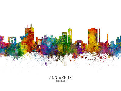 Designs Similar to Ann Arbor Michigan Skyline
