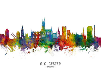 Designs Similar to Gloucester England Skyline 4