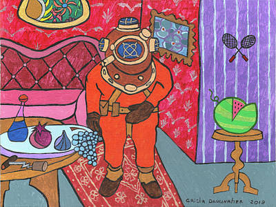 Designs Similar to A Diver Comes To Visit.