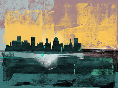 Designs Similar to Baltimore Abstract Skyline I