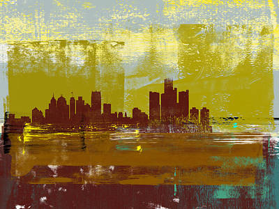 Designs Similar to Detroit Abstract Skyline I