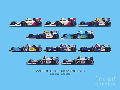 Designs Similar to F1 World Champions 1990s - Blue