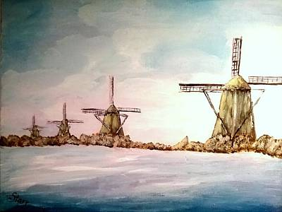 Designs Similar to Four Windmills Ona Waterway