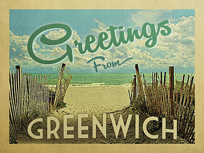 Designs Similar to Greetings From Greenwich Beach