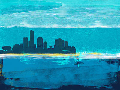 Designs Similar to Milwaukee Abstract Skyline I