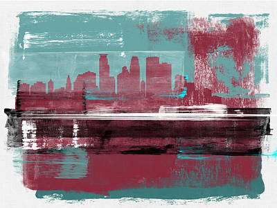 Designs Similar to Minneapolis Abstract Skyline II