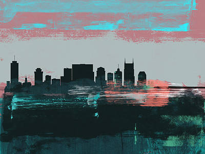 Designs Similar to Nashville Abstract Skyline I