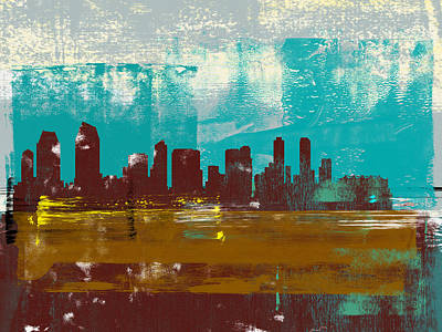 Designs Similar to San Diego Abstract Skyline II