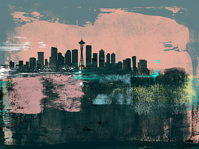 Designs Similar to Seattle Abstract Skyline I