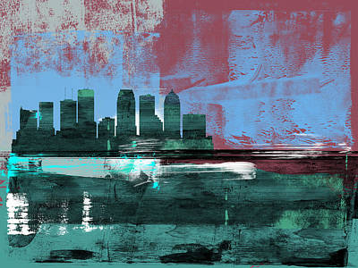 Designs Similar to Tampa Abstract Skyline II