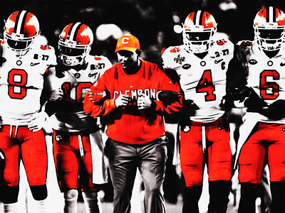 Designs Similar to The Clemson Tigers On The Move