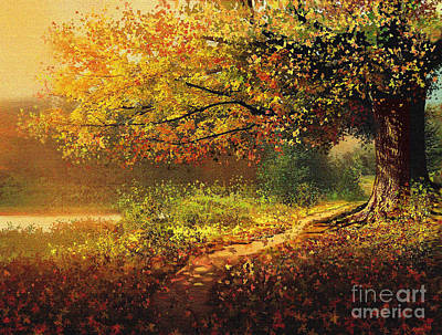Fallen Leaf Mixed Media