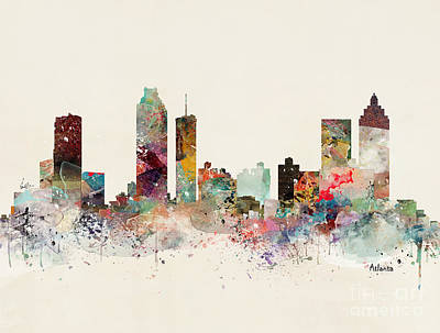 Atlanta Skyline Paintings