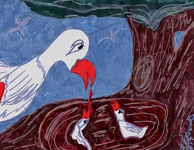 Mother Goose Mixed Media Original Artwork