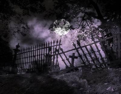 Cemetery. At Moonlight Art