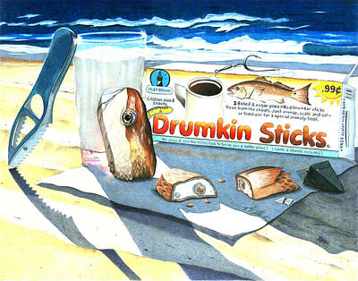 Snack Drawings Original Artwork