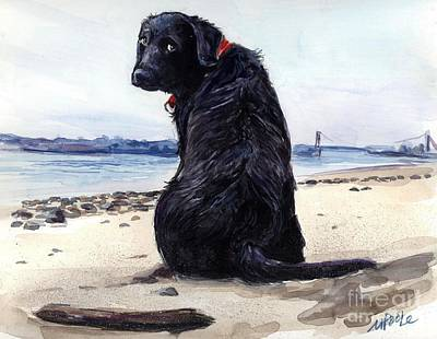 Dogs On Beach Posters