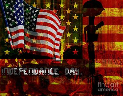 American Independance Mixed Media Prints