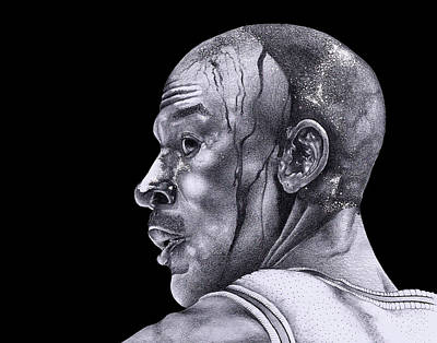 Michael Jordan Sketch Prints