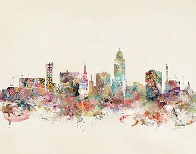 Lincoln Cityscape Art