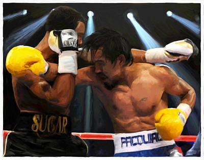 Boxing Digital Art Original Artwork