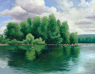 Trees Reflecting In Water Paintings