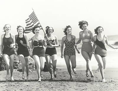 Designs Similar to Patriotic Women At The Beach
