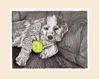 puppys drawings fine art america
