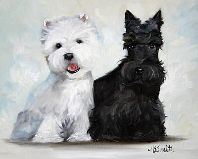 Scottish Terrier Oil Paintings