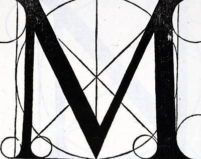 Designs Similar to Letter M by Leonardo Da Vinci