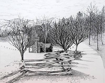 Split Rail Fence Drawings Prints