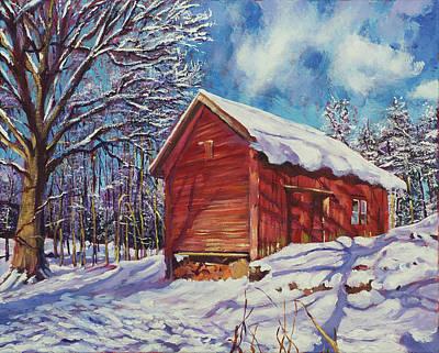 New England Barns Original Artwork
