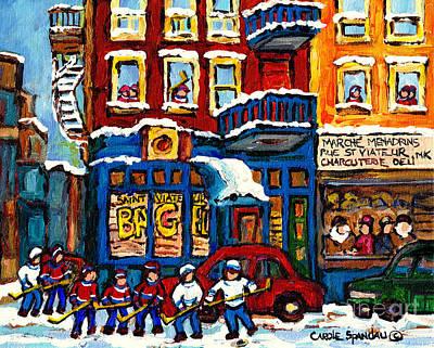 Montreal Landmarks Paintings